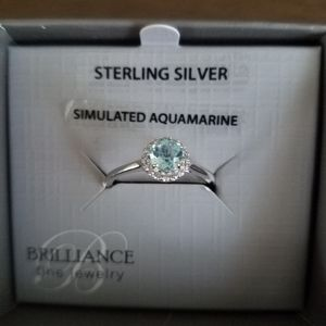 NEW Sterling Silver Aquamarine Ring